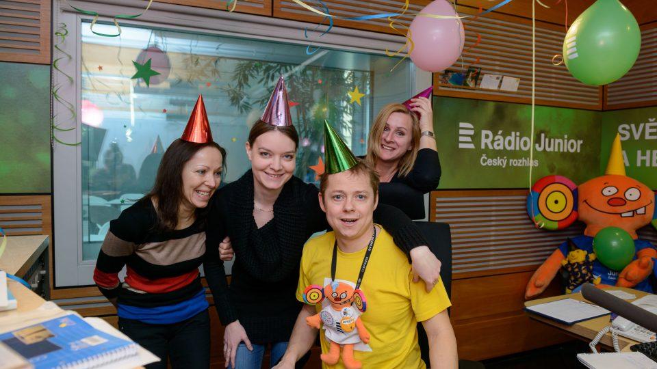 Ranní tým Rádia Junior: Danielka, Helča, Jirka a Kristýna