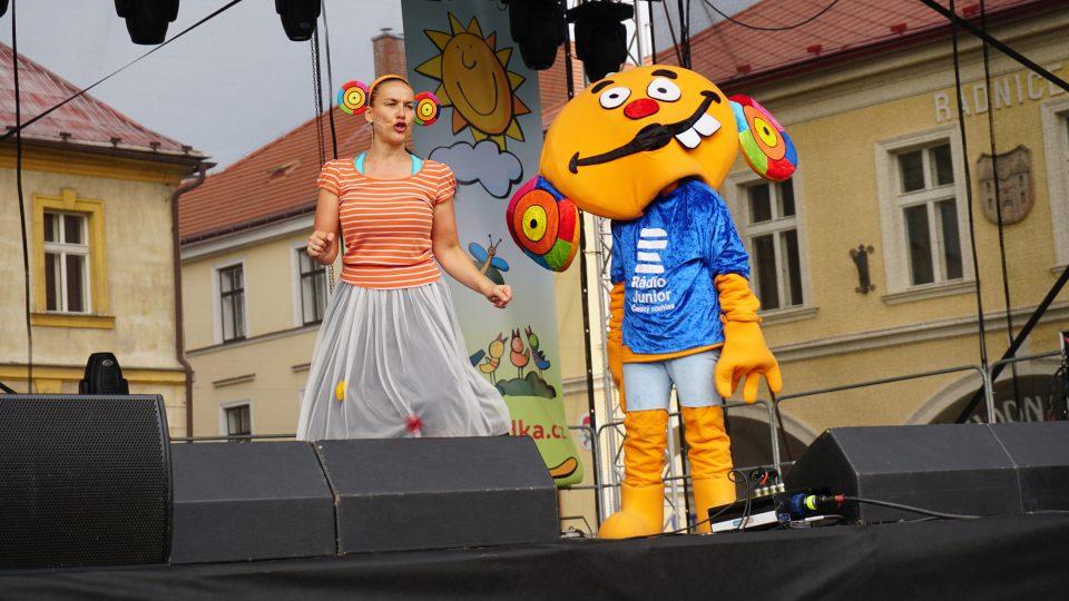 Ušoun Rušoun a Jana Rychterová na festivalu Jičín 0 Město pohádky 2018