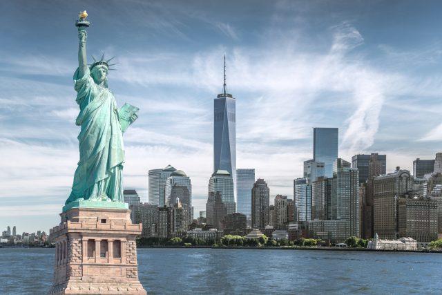 Socha Svobody je jedním z nejznámějších symbolů New Yorku