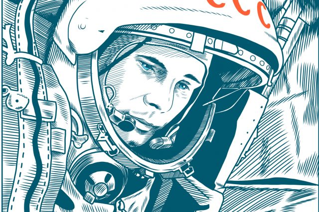Jurij Gagarin se stal prvním člověkem,  který dosáhl oběžné dráhy Země | foto:  TPYXA_ILLUSTRATION,  Shutterstock