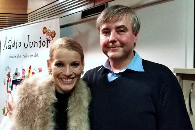 Operní pěvkyně Michaela Gemrotová a dirigent Michal Macourek | foto: Klára Nováková,  Český rozhlas