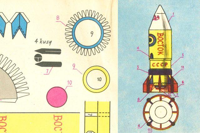 První vystřihovánkou v časopise ABC byla raketa Vostok | foto:  Časopis ABC