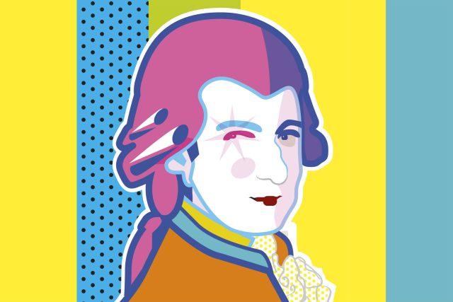 W. A. Mozart byl slavný hudební skladatel