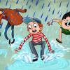 Venda a Fráňa v dešti
